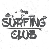 Surf club concept. Stock Images