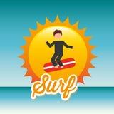 Surf club design Stock Photography