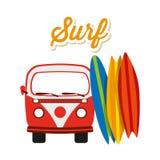Surf club design Royalty Free Stock Photo
