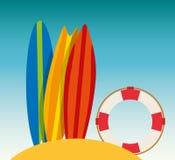 Surf club design Royalty Free Stock Image
