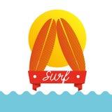 Surf club design Stock Photo