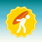 Surf club design Stock Image