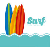 Surf club design Royalty Free Stock Images