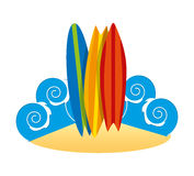 Surf club design Royalty Free Stock Photography