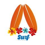 Surf club design Royalty Free Stock Photos