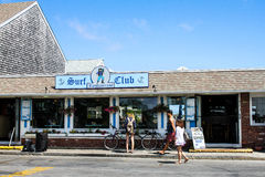 Surf Club Restaurant on Ryder Street in Provincetown, MA. Royalty Free Stock Photo