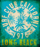 Surf Club Tropical graphic with typography design Royalty Free Stock Photos