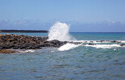 Surf Crashing Royalty Free Stock Images