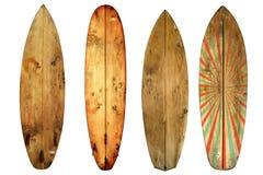 Surf d'annata isolato su bianco Immagine Stock