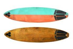 Surf d'annata isolato su bianco Fotografie Stock Libere da Diritti