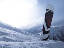 Surf des neiges dans la neige Images stock