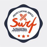 Surf design Royalty Free Stock Photo