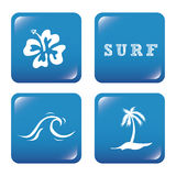 Surf design Royalty Free Stock Photos