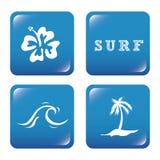 Surf design Royalty Free Stock Photos