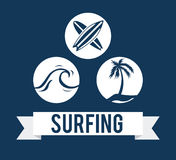 Surf design Royalty Free Stock Photography