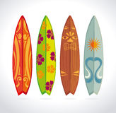 Surf design. Over white background, vector illustration Royalty Free Stock Photos