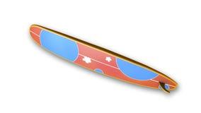 Surf di legno isolato su fondo bianco, vista dal basso Fotografie Stock Libere da Diritti