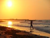 - surf do wschodu słońca Obrazy Stock