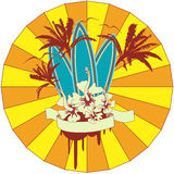 Surf Emblem Royalty Free Stock Photography