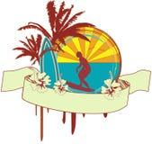 Surf Emblem Royalty Free Stock Image