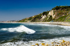 Surf. Famous Southern California surf spot Stock Photo