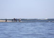Surf Fishing. Surf Fisherman Salt Water Fishing Royalty Free Stock Photos
