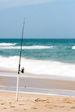 Surf Fishing Royalty Free Stock Photo