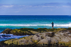 Surf fishing Royalty Free Stock Photography