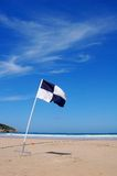Surf Flag on beach Stock Image