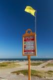 Surf flag warning system Sign Royalty Free Stock Image