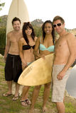 Surf friends Stock Photography