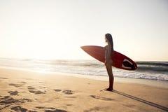 Surf girl royalty free stock image