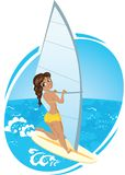 Surf girl Royalty Free Stock Photo
