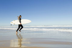 Surf girl stock images