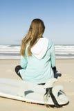 Surf girl Stock Photo