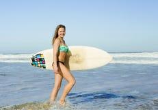 Surf girl royalty free stock photo