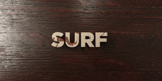 Surf - grungy wooden headline on Maple  - 3D rendered royalty free stock image Royalty Free Stock Photography