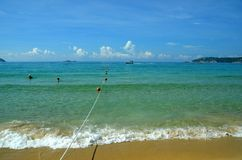 Surf on Hainan Island, China, Sanya, Yalong Bay Stock Photography