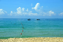 Surf on Hainan Island, China, Sanya, Yalong Bay Royalty Free Stock Image