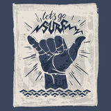 Surf hand sign Royalty Free Stock Photos