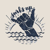 Surf hand sign Royalty Free Stock Photo