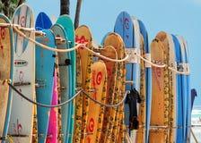 Surf Honolulu. Sunny day to Honolulu, Hawaii Stock Images