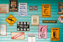 Surf house signs Royalty Free Stock Photography