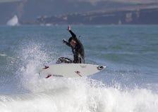 Surf I. Tarde de surf en la playa de El Sardinero,Cantabria ( norte de España Stock Photos