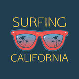 Surf illustration typography with glasses Stock Photography