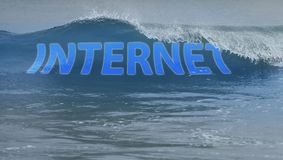 Surf the internet wave Stock Photo