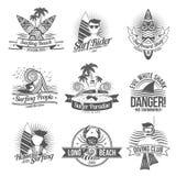 Surf Label Black royalty free illustration