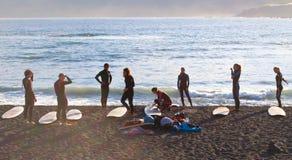 Surf lesson Stock Photo