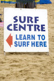 Surf lessons Stock Images