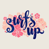 Surf lettering print Royalty Free Stock Images